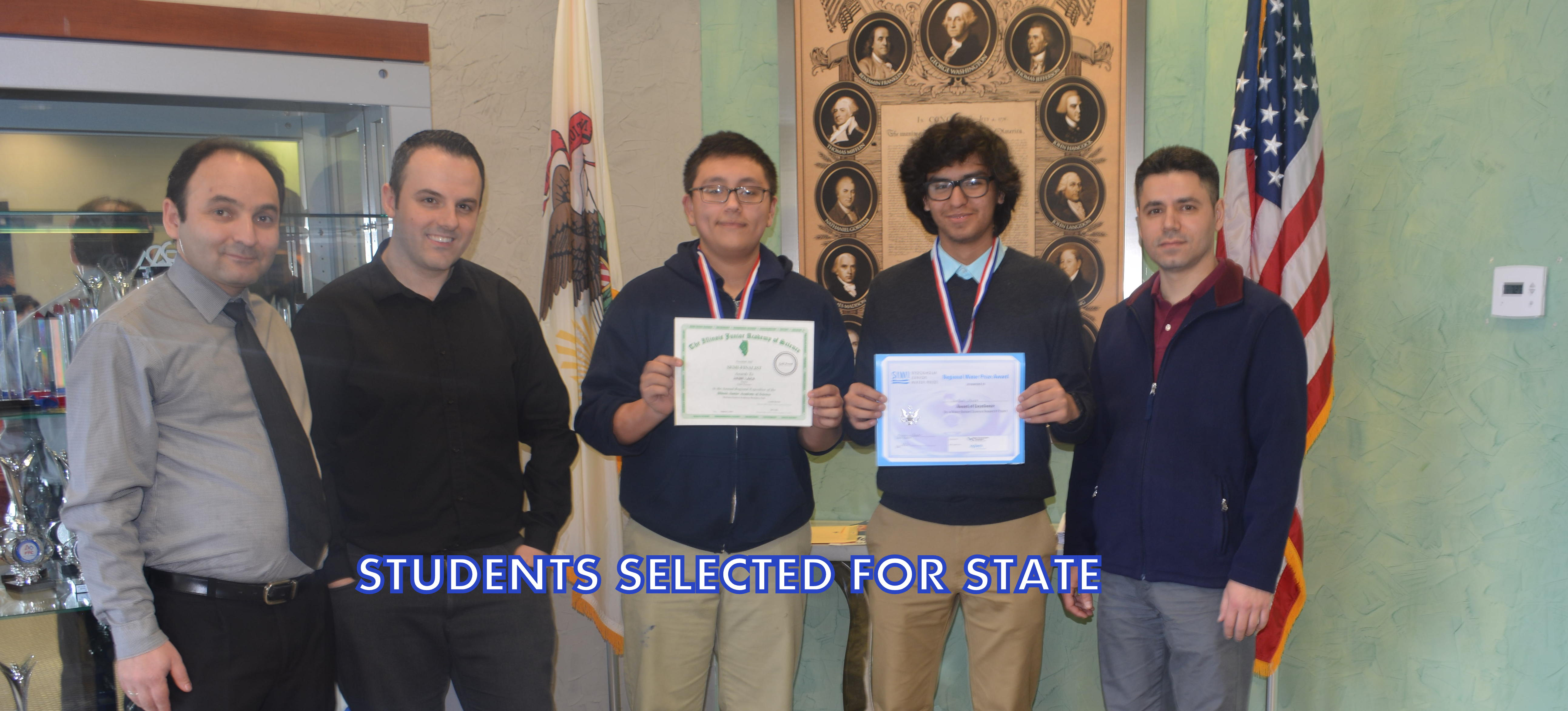 Our Students Selected For State2016