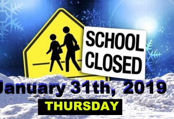 SCHOOL CLOSED jan 31 2019